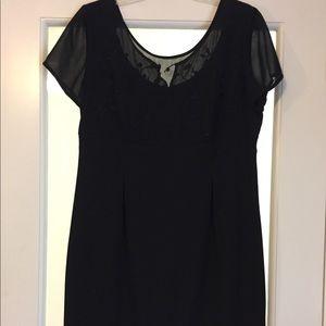 Liz Claiborne- Black short evening dress
